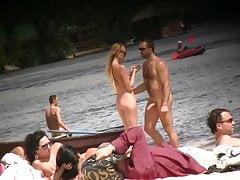 Erection on nudist beach