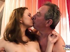 Old and Young, Grandpa Fucks Teen Babysitter, Fingers Virgin