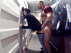 Twink fucked by his strong stepdad